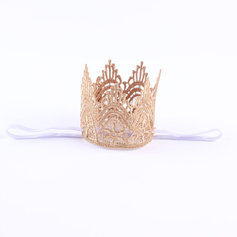 Newborn Baby Girls Infant Toddler Crown Headband Hair Band Headwear Accessary