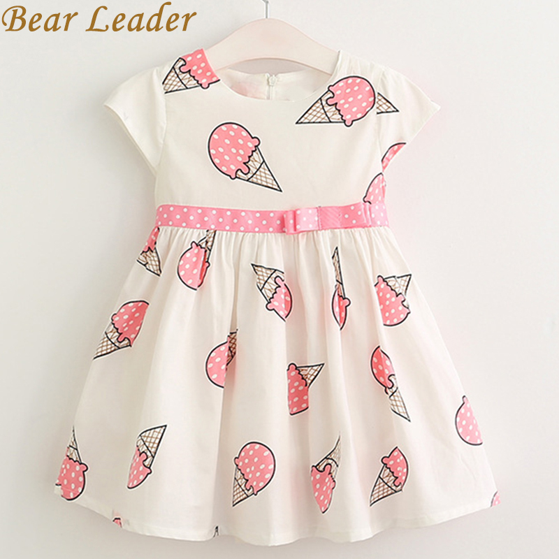 Bear Leader Girls Dress 2017 Brand Princess Dress Children Clothing Ice cream design for Girls Clothes Summer Style Kids Dresses bear leader girls dress 2016 brand princess dress kids clothes sleeveless red rose print design for grils more style clothes