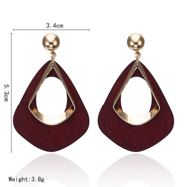2018 Retro women's fashion statement earring earrings for wedding party Christmas gift wholesale 4