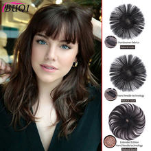 BUQI Seamless Invisibility Comfortable of True Hair Top Cover Brown and Black Color Brazilian Remy Clip Hair for Black Women(China)