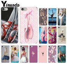 Yinuoda bailarina Ballet Niña Zapatos cubierta transparente de teléfono Shell para iPhone X XS MAX 6 6s 7 7plus 8 8Plus 5 5S SE XR