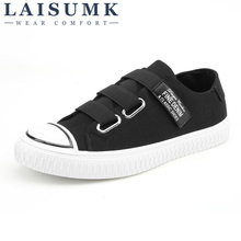 2019 LAISUMK Men Casual shoes Spring Summer Breathable Lace-Up Canvas Male Flats Fashion Flat Loafers