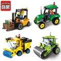Ciudad enlighten serie bloques de construcción carretilla elevadora mejores niños regalos de navidad de la ciudad bloques de construcción de juguete para niños de regalo 1103