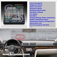 Liislee Car Computer Screen Display Projector Refkecting Windshield For VolksWagen Passat  - Safe Driving Screen car computer screen display projector refkecting windshield for volvo c70 s40 s60 s70 s80 s90 v40 v70 v90 xc70 driving screen