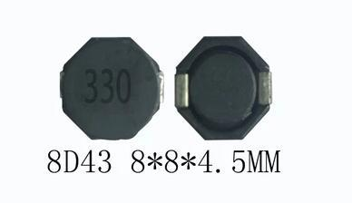 Inducteurs de puissance cms blindés   10 pièces/lot, 8D43 1,4a 220uh 221 marquage décran, 8*8*4.5MM, 10UH/100UH/22UH/220UH/33UH/47UH