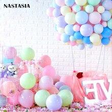 NASTASIA Macaron balloon A single layer 5inch 200pcs/lot globos cumpleanos infantiles anniversaire fille ballon mariage wedding