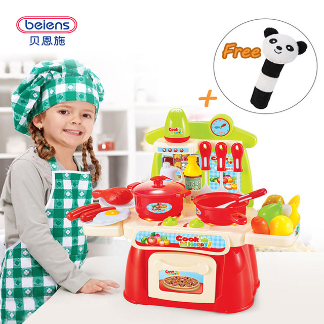 Beiens 22PCS Kitchen Toys Children Pretend Play Toys Baby Play Cutting Fruit Vegetables Baby Early Education Toys 0-12 Months