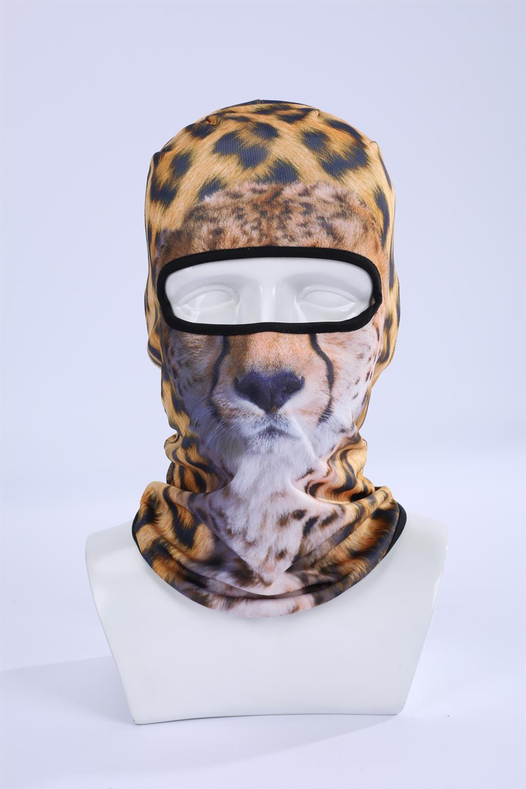 Hot Sale 2017 3D Leopard Animal Outdoor Sports Bicycle Cycling Head Ski Masks Beanie Hat Balaclava Uv Full Face Mask Bbb02 women beanie new hot sale 3d zebra animal hood hat balaclava full face mask outdoor sports bicycle cycling ski motorcycle masks