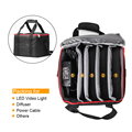 Portátil Bolsa de Transporte Conveniente para 3 LED de Vídeo Luz de Vídeo Led Luces como Aputure AL-528 HR672 y Otras Luces