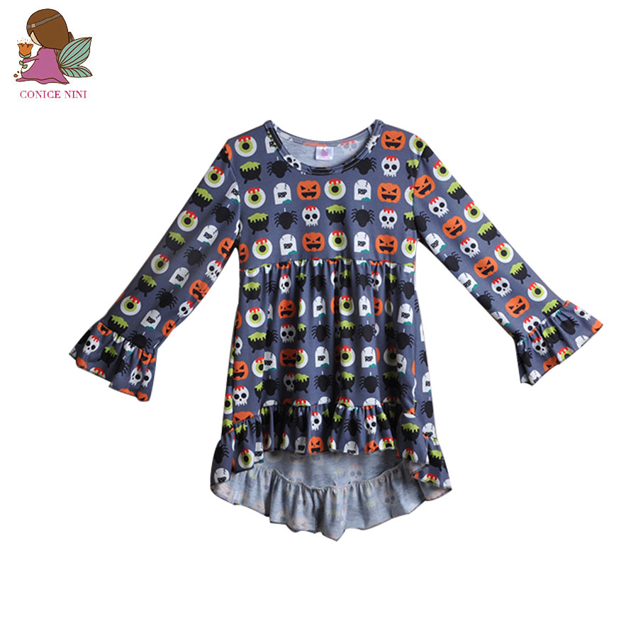 ⑦wholesale bulk halloween fashion new children long sleeve dress