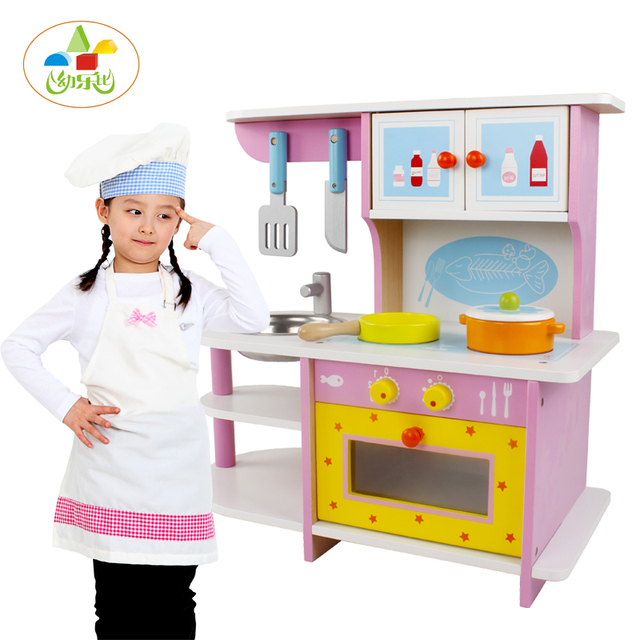 Cook S Wooden Play Kitchen Toy Baby Kids Play House Wooden Kitchen
