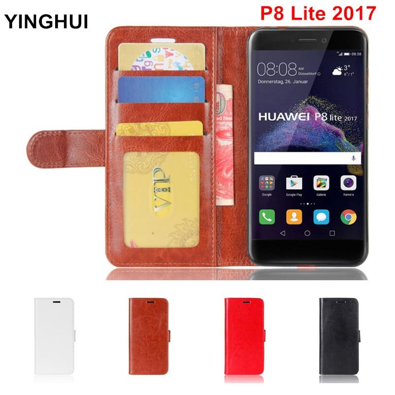 Pour Huawei P8 Lite 2017 Cas Portefeuille Stand PU Étui En Cuir pour Huawei P8 Lite 2017 Coque de Couverture Funda Capa Téléphone Cas Flip Couverture