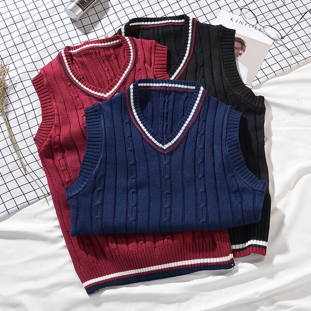 XMY3DWX 2018 Clothing Pullover Sweater Men Autumn V Neck Slim Vest Sweaters Sleeveless Men's Warm Sweater Cotton Casual S-XXL