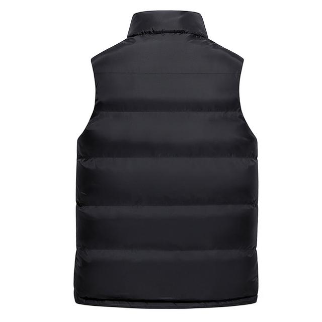 JUNGLE ZONE 2018 new men's sleeveless cotton jacket winter warm vest men's casual vest men's warm jacket MJ008