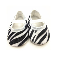 Hot Boy Girl Baby Moccasins Soft Moccs Shoes Bebe White&Black Zebra Fringe Soft Soled Footwear Crib Shoes Newborn Size 11/12/13(China)