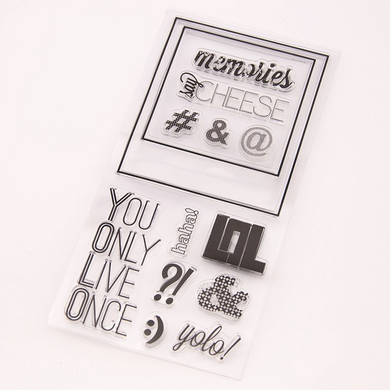 scrapbook DIY youonly live once10*20cm ACRYLIC clear STAMPS PHOTO timbri carimbo stamp tampons encreurs scrapbooking григорий лепс парус live