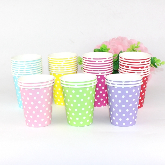 10pcs/lot Polka Dot Paper Cups Disposable Tableware Wedding Birthday Party Paper Cups For Wedding  sc 1 st  AliExpress.com & 10pcs/lot Polka Dot Paper Cups Disposable Tableware Wedding Birthday ...