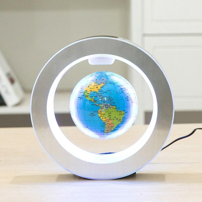 Nouvelle nouveauté décoration lévitation magnétique Globe flottant carte du monde avec lumière LED avec électro aimant et capteur de champ magnétique - 3