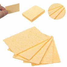 5pcs Universal Soldering Iron Replacement Sponges Pads Solder Iron Tip Cleaner Yellow Cleaning Sponge 5×3.5cm