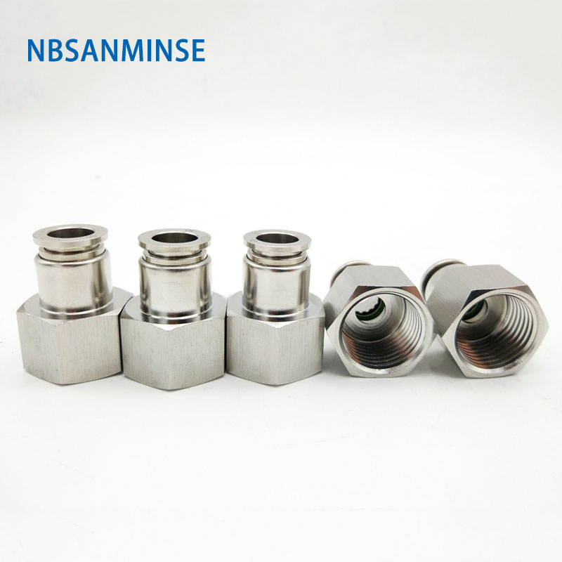 NBSANMINSE 5Pcs/lot SSPCF M5 1/8 1/4 3/8 1/2 SS316L Stainless Steel Food Grade Fitting Female Thread Straight SS FittingNBSANMINSE 5Pcs/lot SSPCF M5 1/8 1/4 3/8 1/2 SS316L Stainless Steel Food Grade Fitting Female Thread Straight SS Fitting
