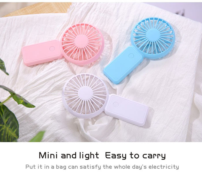 Hand Free Mini Portable Fan Battery With Colorful Lights Two Fans Hanging Around The Neck For Sport 14