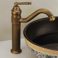 European style Health sanitery ware copper antique basin sink faucet with solid brass bathroom basin faucet
