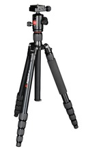 Kingjoy AT-259+QE-Zero skilled excessive energy aluminum light-weight moveable tripod with Ball head for Canon Nikon Sony