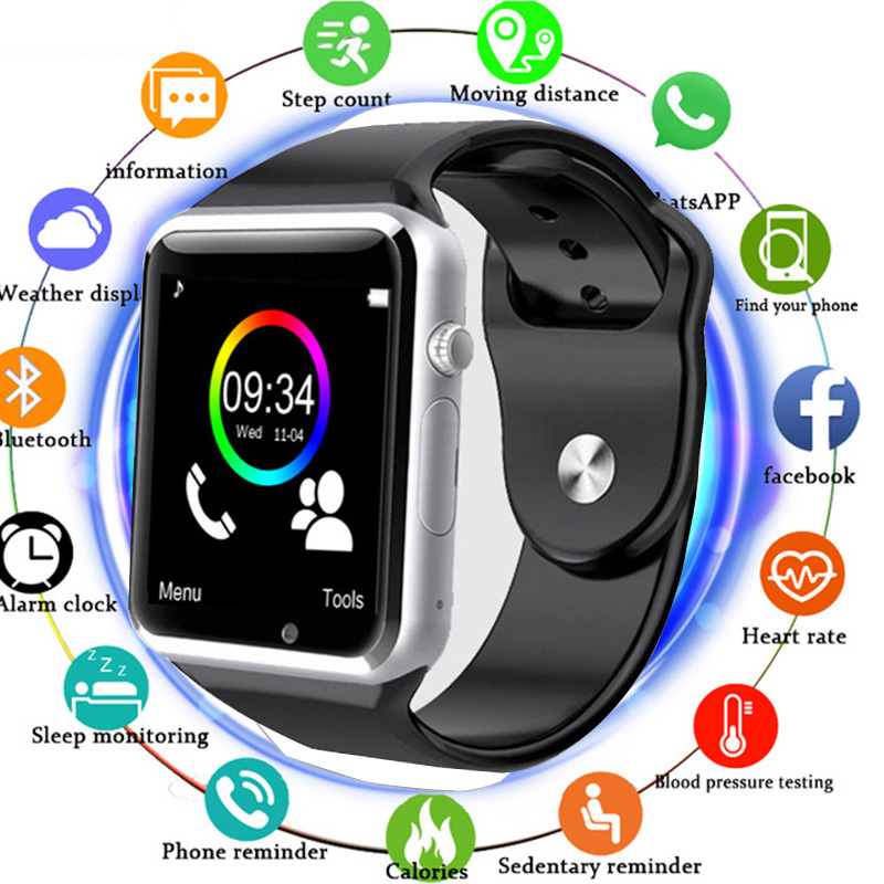 2019 Bluetooth Smart Watch A1 For Apple iPhone IOS Android Phone Wrist Wear Support Sync smart clock Sim Card PK DZ09 GV182019 Bluetooth Smart Watch A1 For Apple iPhone IOS Android Phone Wrist Wear Support Sync smart clock Sim Card PK DZ09 GV18