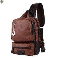 Men Crossbody Bags Men's USB Chest Bag Designer Messenger bag Leather Shoulder Bags Diagonal Package Fashion new Back Pack Trave