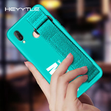 Hettyle Ultra dunne Polsband Case Voor Huawei P20 P10 P9 Lite Nova 3 3i Bracket Stand Hard Cover Voor Huawei mate 20 10 Pro Coque(China)