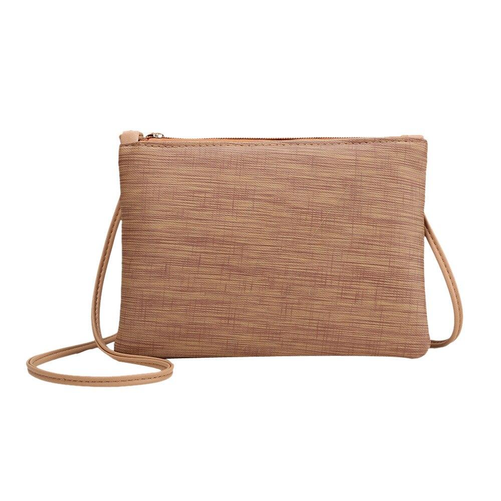 Famous  Crossbody Bags For Retro Pu Leather Zipper Clutches Shoulder Bags Bags For Bolsa Feminina