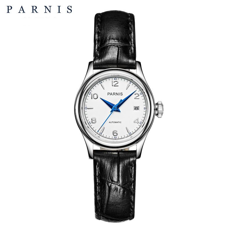 Parnis Mechanical Women Watches Automatic Ladies Watch Sapphire Leather Japan Miyota Movement Leather Analog relogio feminino все цены