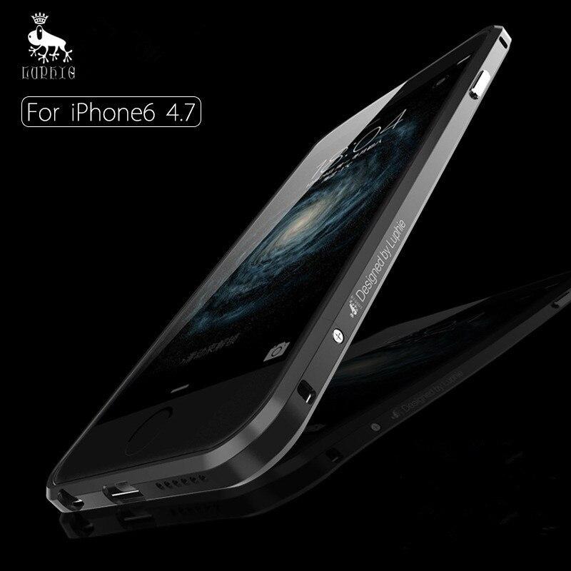 Цена за Для iPhone6 бампер высшего качества Роскошный Алюминиевый металлический каркас чехол для iPhone 6 4.7 дюймов противоударные телефоны случаях