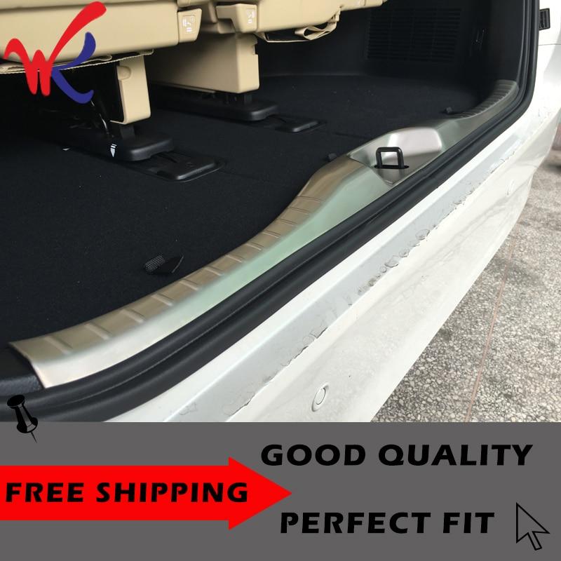 2x Steel Rear trunk Bumper Protector Guard Trim For Toyota Highlander 2015-2018