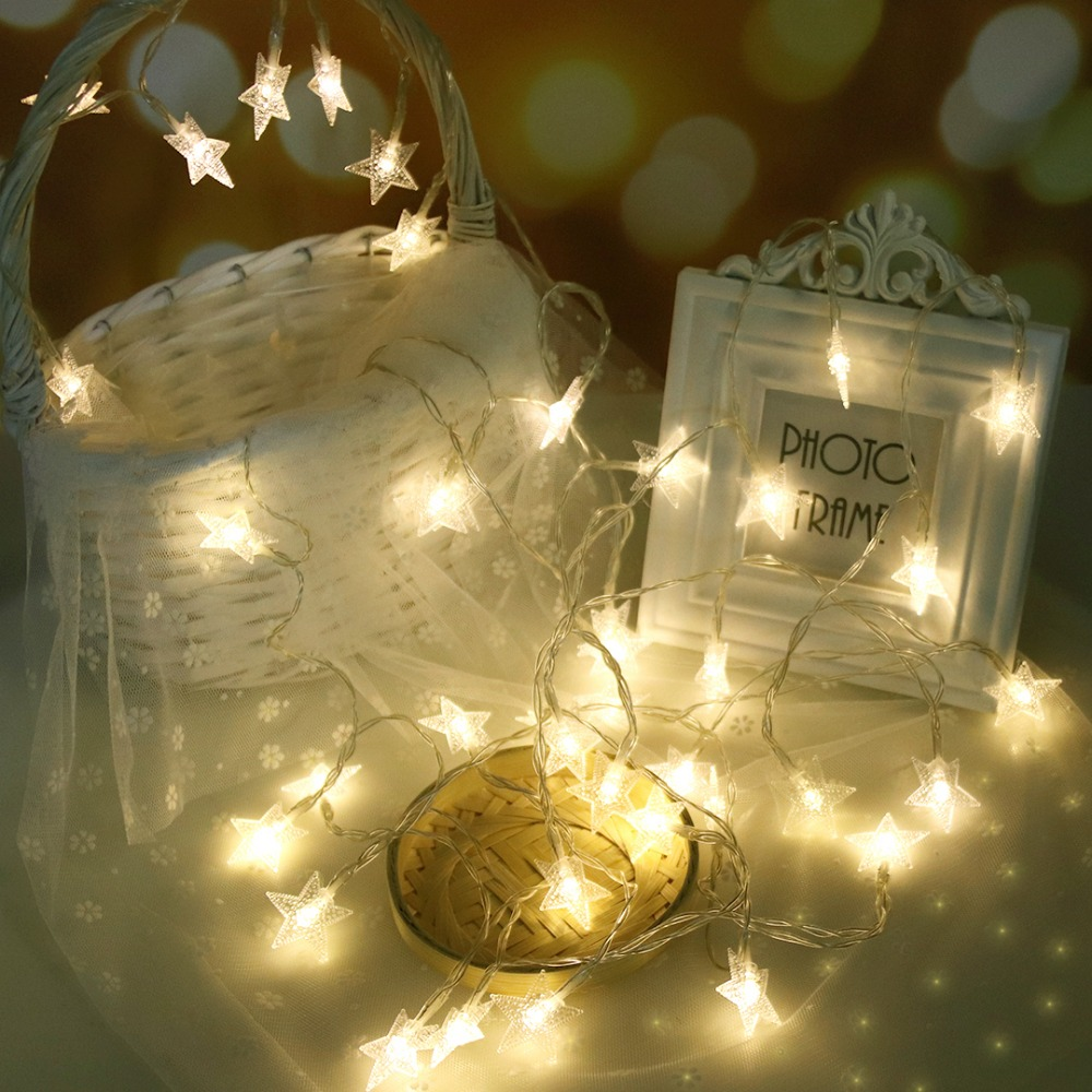 LED Garlands Lights Shining Stars Light String 6M 40 LEDs Princess - Festlig belysning - Foto 2