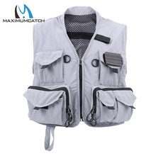 Maximumcatch Fly Vest US Size M Outdoor Sleeveless Multi-pocket Light Fly Fishing Jacket
