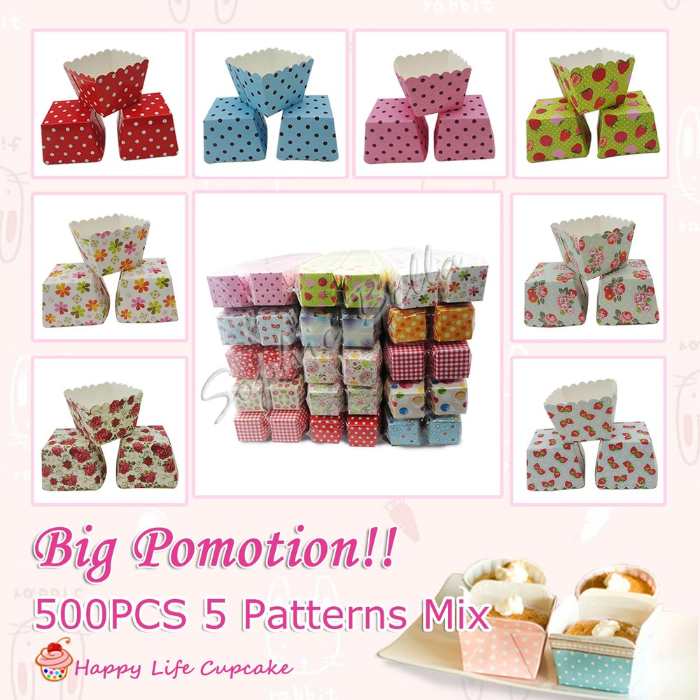 Wholesale 500pcs Mixed Patterns Square Baking CupsSquare Muffin Cases Cupscake Box Cupcake Boxescupcake Stand Free ShippingD On Aliexpress