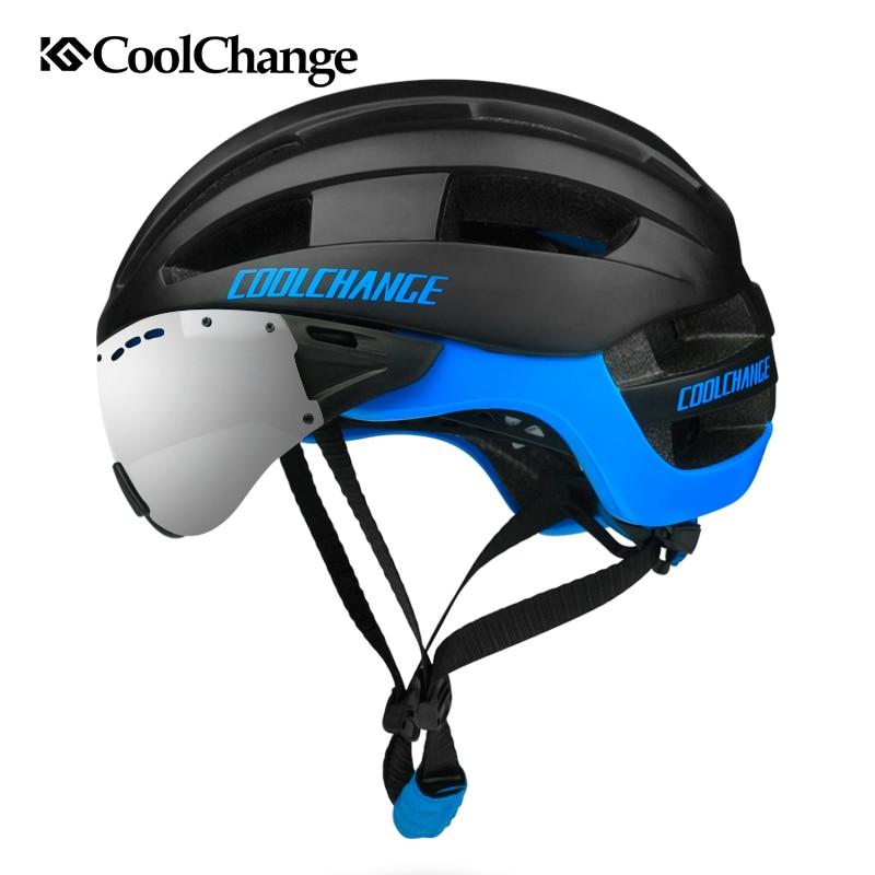 CoolChange Cycling Helmet  Men 16 Vents MTB Bike Helmet EPS Windproof Lenses Integrally-molded Bicycle Helmet Casco Ciclismo