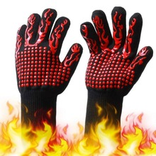 Oven Mitt Baking Glove Extreme Heat Resistant Multi-Purpose Grilling Cook Gloves Kitchen Barbecue Glove BBQ Gloves heat resistant finger glove latest reinforced one piece trend protecting gloves goods magic funny handmade