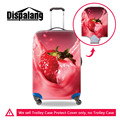 Dispalang frutas 3d impressão morango bagagem mala cobre capas protetoras para 18-30 polegada protetores de mala de viagem da bagagem
