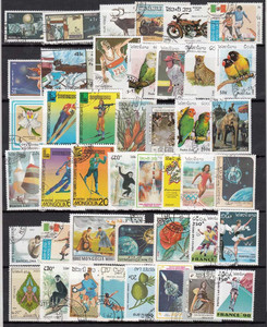 Image 4 - 1900 PCS All Different No Repeat With Post Mark Off Paper Postage Stamps In Good Condition For Collection