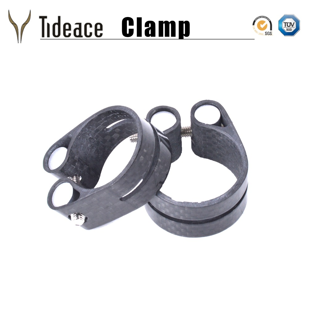 Ultra Light 13g Carbon Fiber Bicycle Seat Post Clamp Seat Tube Clamp Road Or MTB Mountain Bike Seatpost Clamp 31.8mm 34.9mm