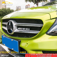 ANTEKE Auto Front Grill AMG Logo Trim Accessories For Mercedes Benz A B C E S Class GLA CLA G500 GLE GLC ML GLK G
