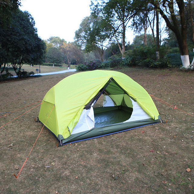 Wnnideo Outdoor Camping Tents Polyester Tartan 2 to 3 One-bedroom Tents Double Layer