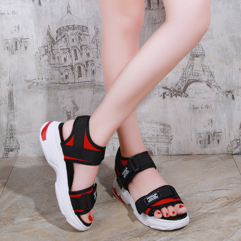 2019 New Summer Women Beach Shoes Soft And Comfortable Outdoor Sandals Platform Sandals Platform Sneakers Ladies Sports Shoes