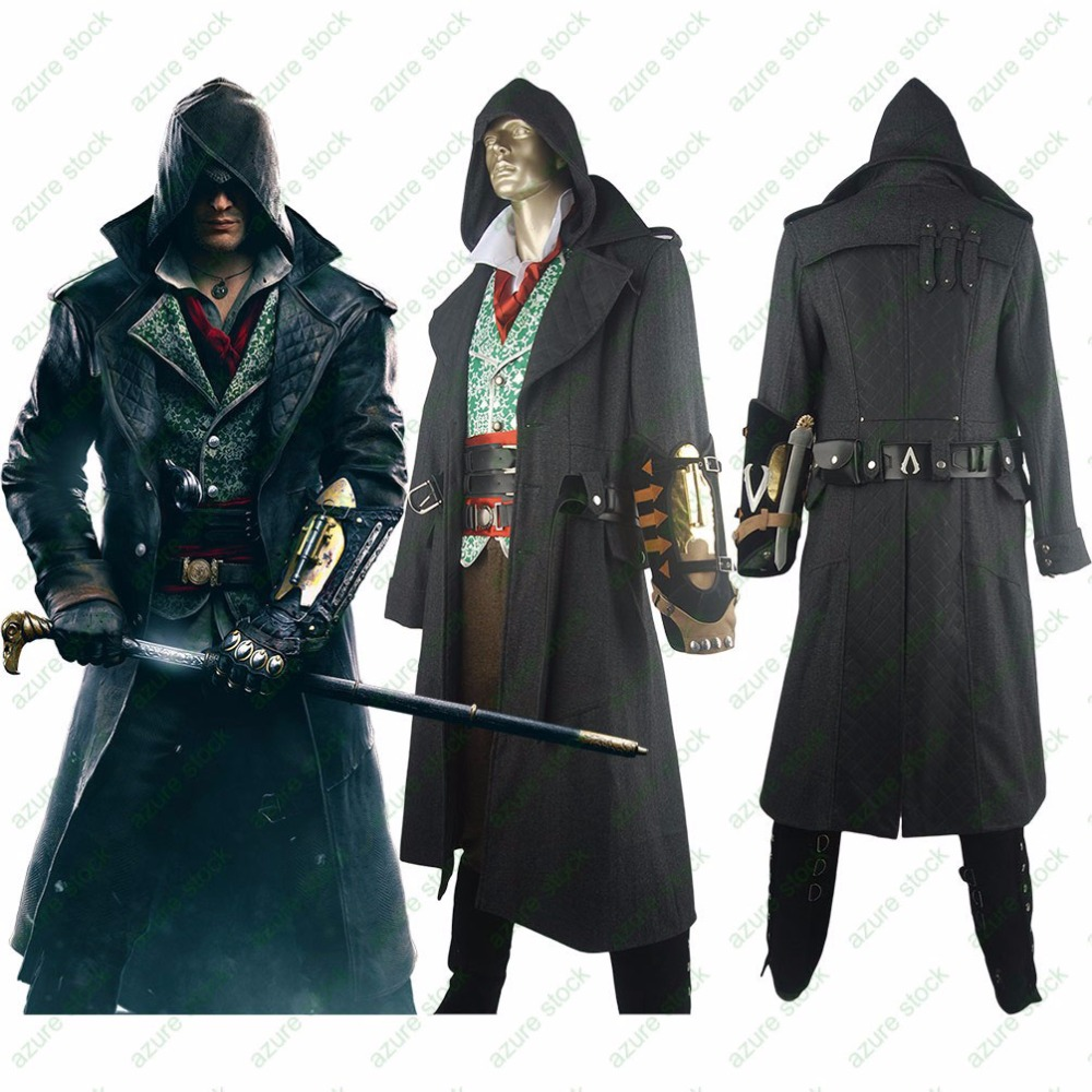 AC Syndicate Jacob Frye Hoodie Deluxe Outfit Halloween Carnival Comic-con Anime Men Adults Cosplay Costume