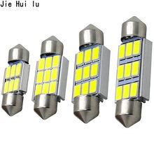 1 Uds guirnalda CANbus 31mm 36mm 39mm 41mm C5W Led ERROR libre 5630 5730 6 LED smd interior lectura blanco hielo bombillas azules Domo lámparas(China)
