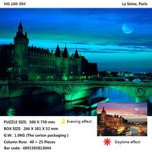 Tomax 1000pcs glowing jigsaw puzzle Hallstatte, AustriaMount Fuji, Japan Niagara Falls, Canada gipsy kings niagara falls