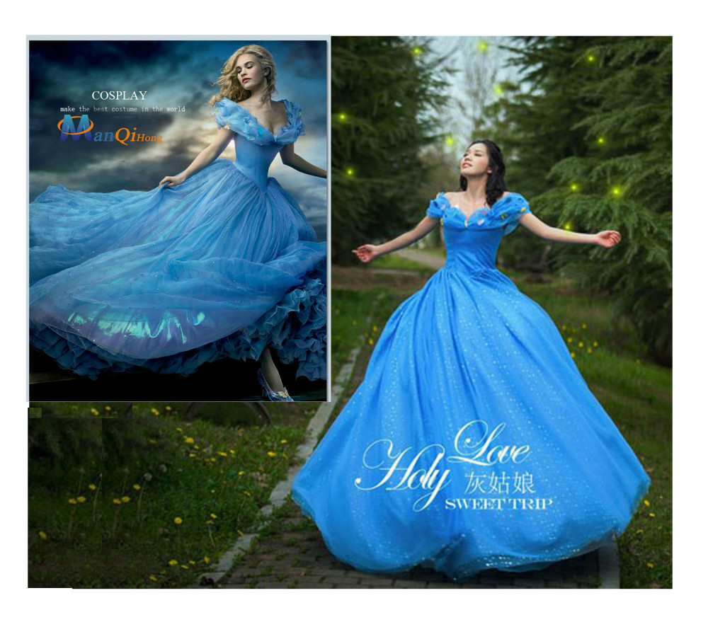 Adult cinderella costumes princess party dress fairy Cosplay ...
