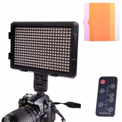 180 Warm White Light LED Video Light on-Camera Photography Lighting Fill Light for Canon/ Nikon DSLR Camera